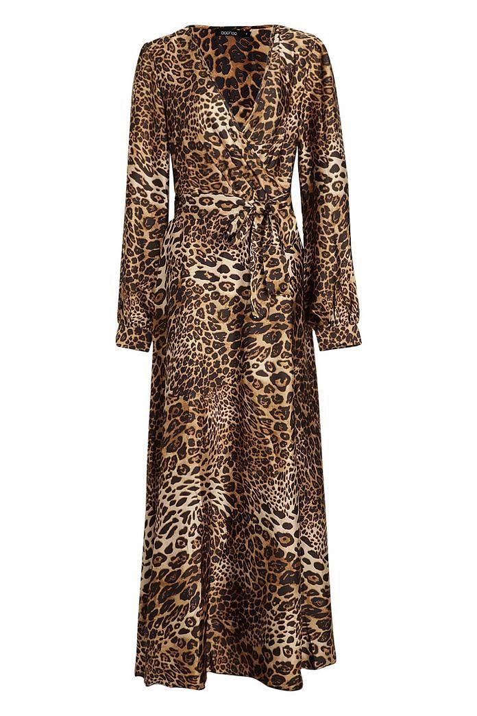 307bde8d7cd Leopard Print Satin Maxi Dress in 2019 | Платья | Dresses, Luxury ...