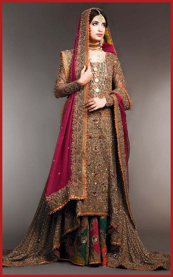 New Pakistani Wedding Sharara Gharara Girls Dresses