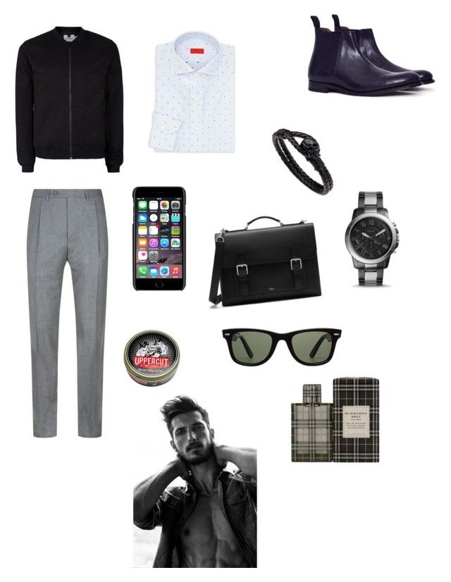 """""""Sin título #272"""" by carolinaramirez-1 on Polyvore featuring Topman, Canali, Isaia, The Idle Man, FOSSIL, Mulberry, Dolce&Gabbana, Ray-Ban, Burberry y Uppercut"""