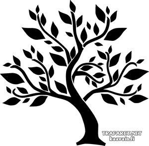 Abstrakt träd • Abstrakt träd. Mall till inredning - dekorativt måleri, tygtryck. •