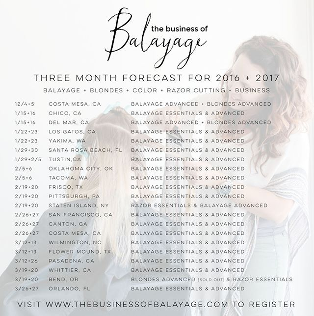 😍 We are coming to so many amazing places in the next year and we can't wait to meet you all! Here are the next few months of dates - for all upcoming classes, check out our fresh page {@independenthairclasses} where we're keeping all of our upcoming classes listed for you!! 🙌🏼 Check it out to find one near you and don't forget to turn on notifications so you're the first to know as we add new classes ✨  New This Week: Chicago, Alaska & Arkansas…