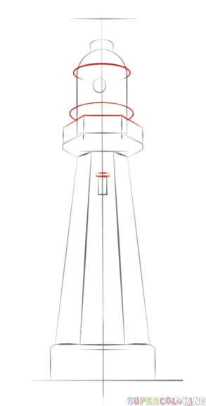 How to draw a lighthouse | Step by step Drawing tutorials