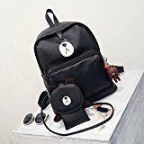 #6: リュック女子用天然革韓風大容量バッグ気軽く合わせやすいファションなバッグ 通学 中学生 高校生