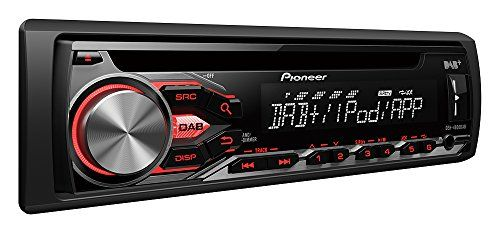 Pioneer DEH-4800DAB + sintonizador de radio de coche con DAB, CD drive, USB y aux-in para iPod/iPhone y Android Media acceso