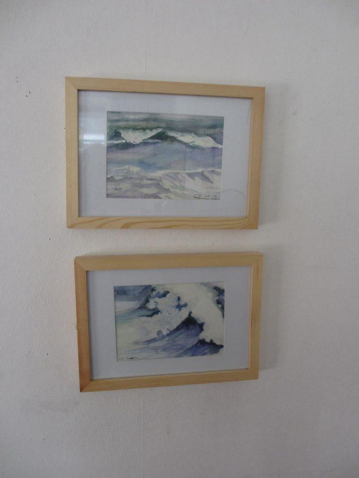 Zee in aquarel