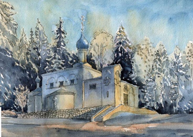 Казанская церковь в Ярвенпяа, Финляндия. Автор: Иван Краснобаев
