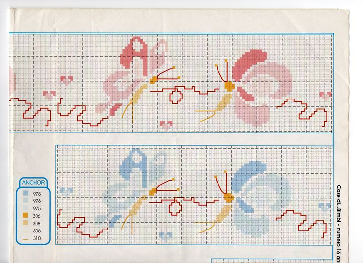 53 best schemi punto croce lenzuolini images on pinterest for Lenzuolini punto croce schemi