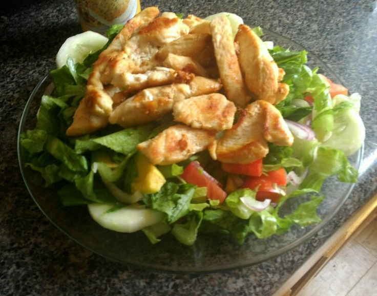 My Saturday Grilled Chicken Salad!