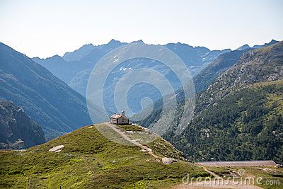 Particular small church in a valley in Gran Paradiso national park