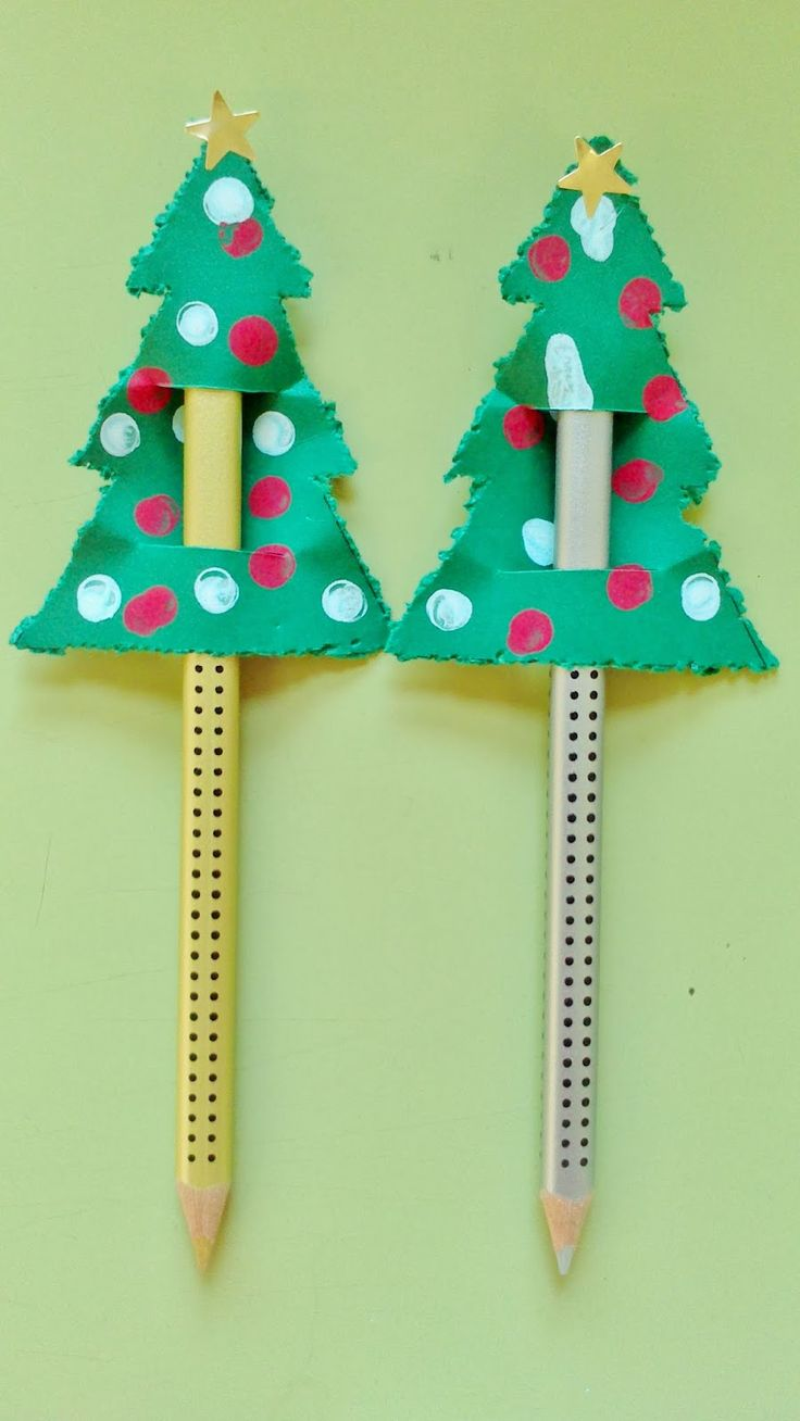 Bleistiftverzierung Weihnachtsbaum