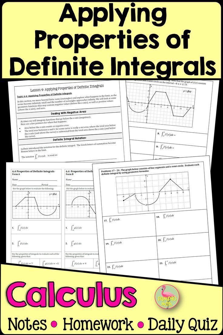 Calculus Properties Of Definite Integrals Unit 6 In 2020 Ap Calculus Calculus Ap Calculus Ab