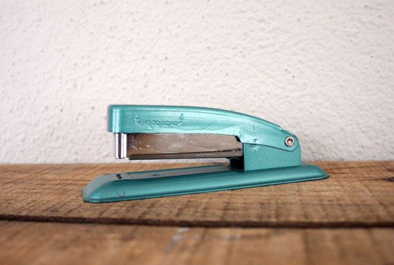 Vintage Stapler // Vintage Swingline Stapler // Red Swingline Stapler // Mid Century Office Decor