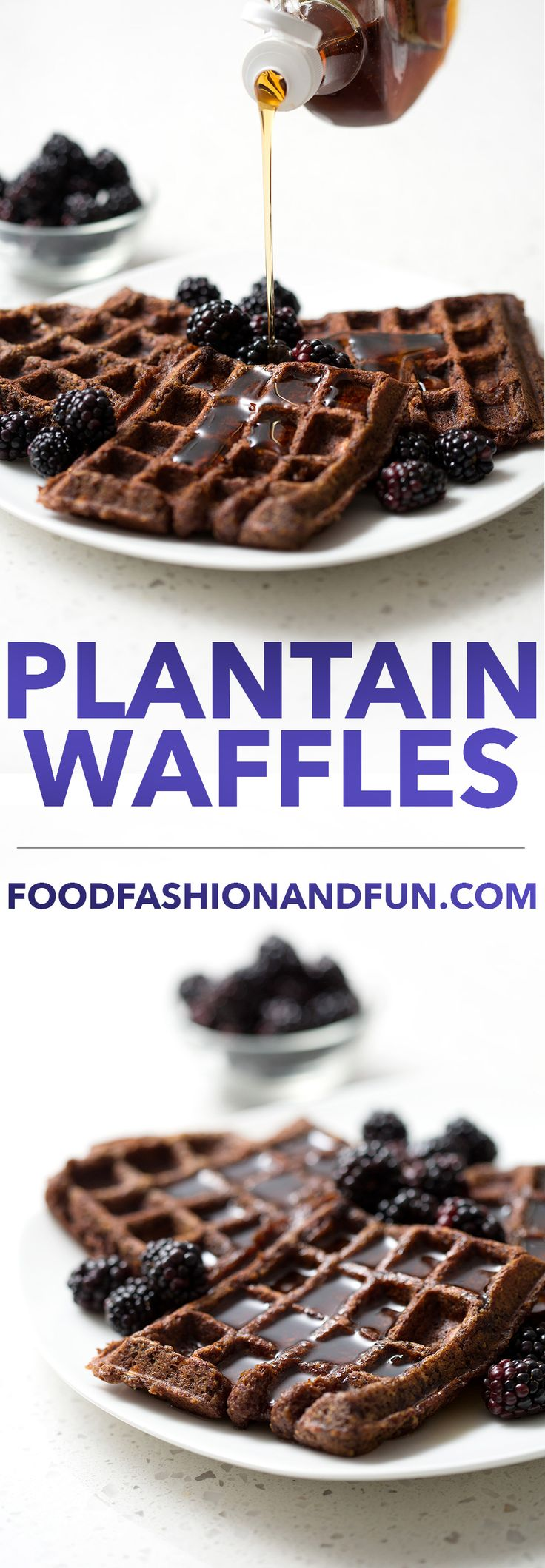 Finally, there's an AIP friendly waffle for all you brunch lovers out there. These Plantain Waffles are made from green plantains and bananas! The green plantains make these waffles light and the bananas add a natural sweetness. This recipe is allergy friendly (gluten, dairy, seafood, nut, egg, and soy free) and suits the autoimmune protocol (AIP), paleo and vegan diets.