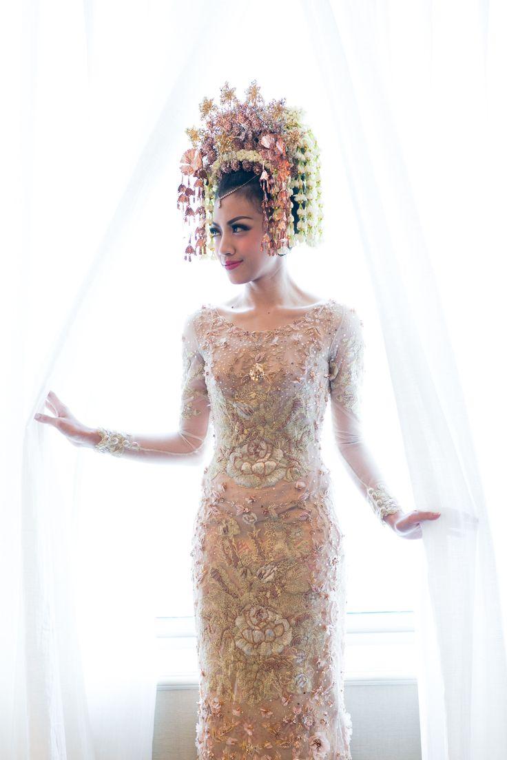 76 best kebaya wedding images on Pinterest   Hijab wedding dresses ...
