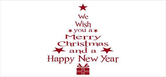 Christmas decorations holiday wish christmas tree wall decal christmas decal christmas tree decal