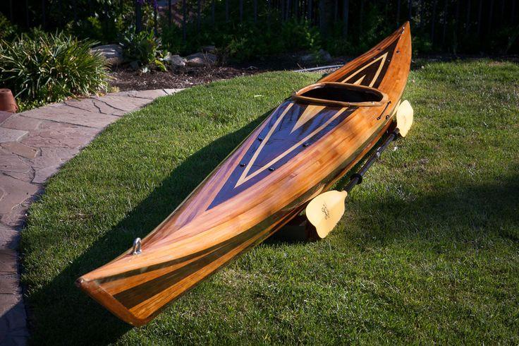 British style sea kayak strip built