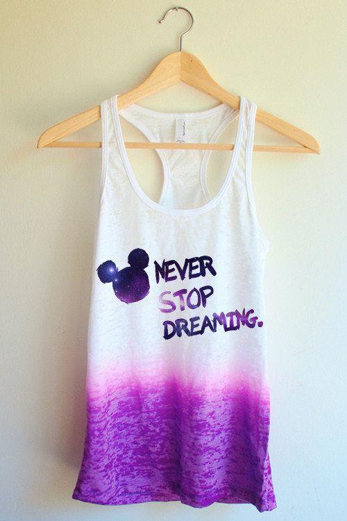 Galaxy Never Stop Dreaming Tie Dye Tank Top From yottakilo.com