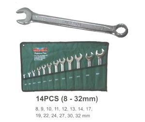 Kunci Ring Pas Set 14 Pcs 8-32mm - Wipro