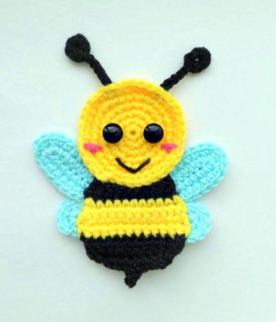 eb7b4a28847 bumble bee applique crochet pattern