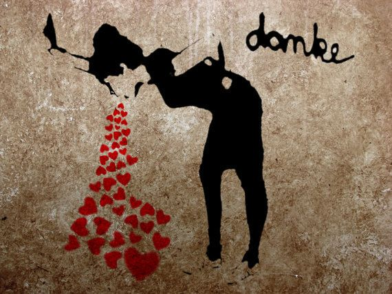 Banksy Poster Print  - Lovesick  - Multiple Paper Sizes