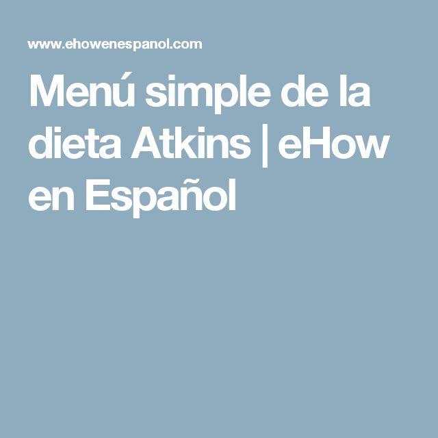 Menú simple de la dieta Atkins | eHow en Español