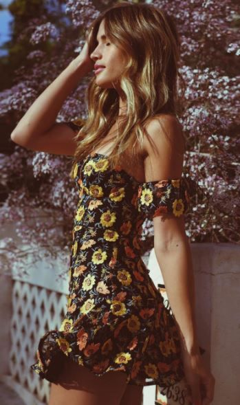 Sunflower dress from Revolve