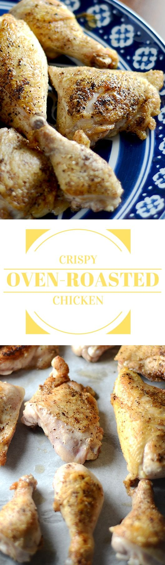 Chicken guaranteed to be tender & juicy. This crispy oven roasted chicken recipe is gluten free, paleo, primal & wheat belly friendly. Get the recipe here!