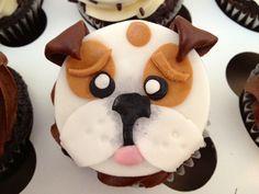 Bulldog cupcake <3 Happy Birthday to me :)