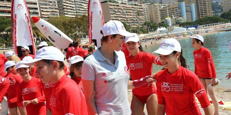 Water Safety Day organisé par la Fondation Princesse Charlène en présence de S.A.R LA Princesse Charlène.