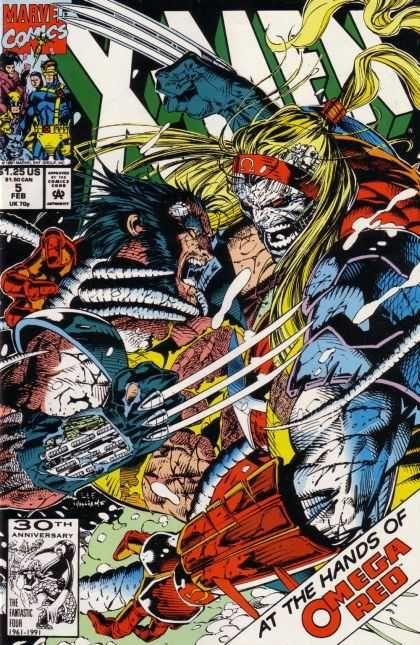 X-Men 5 - X-men - Wolverine - Omega Red - Action Heroes - Marvel Comics - Jim Lee, Scott Williams