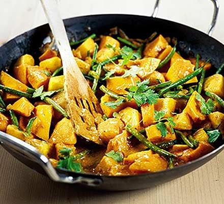 Thai squash & pineapple curry - made this for dinner tonight added a chilli, 4 cloves of garlic and used a whole tin of coconut milk. Absolutely amazing!