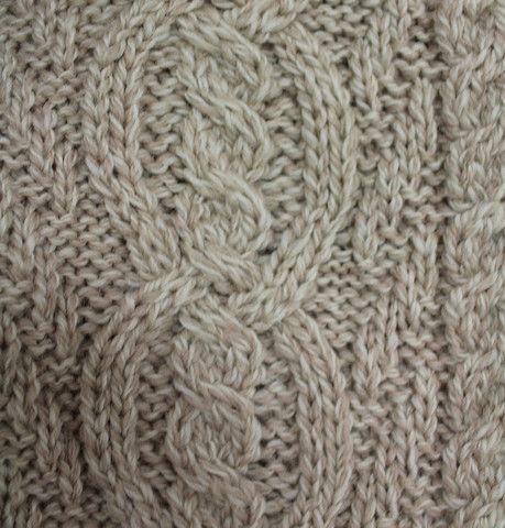 Double Collar Aran Knit Coat