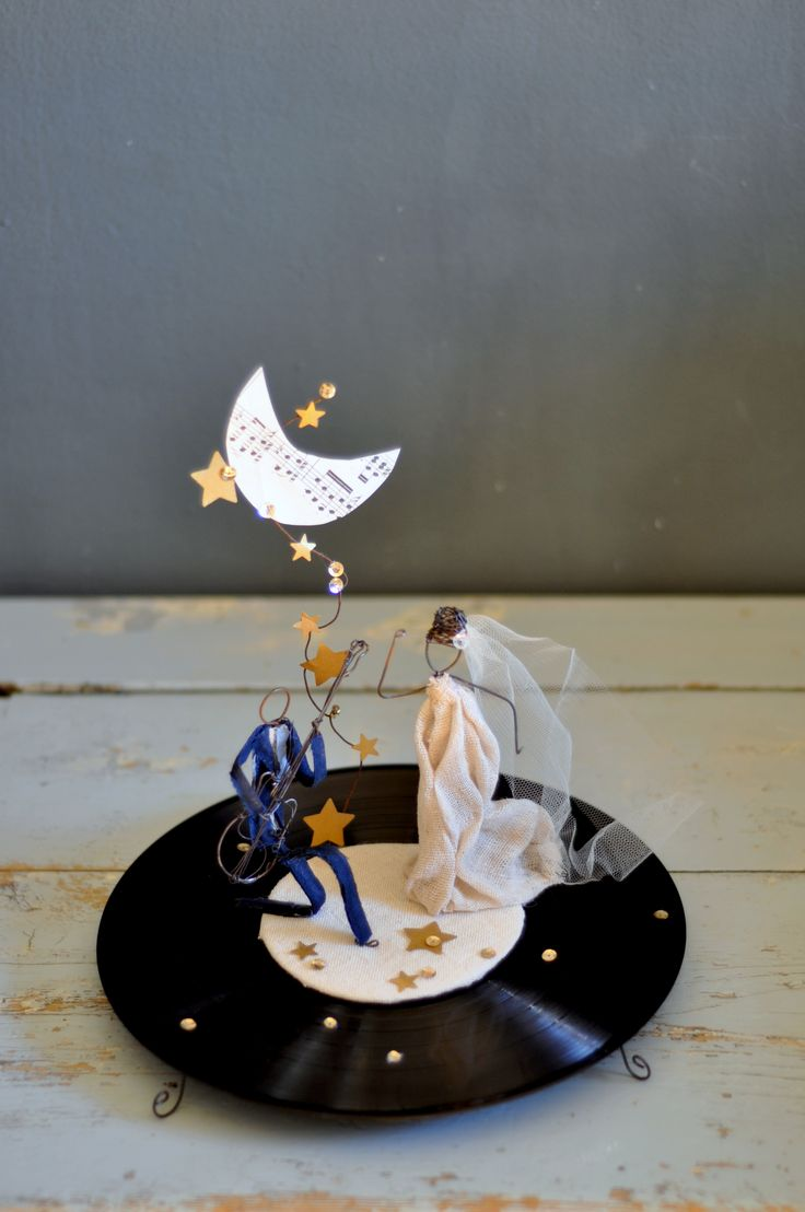 they rock! wedding cake topper lebianchemargherite.blogspot.it