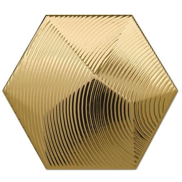 Heksagon Piramidal - płytki ścienne Dec. Piramidal 1 Oro 17x15