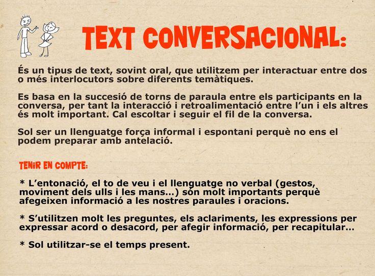 Característiques text conversacional