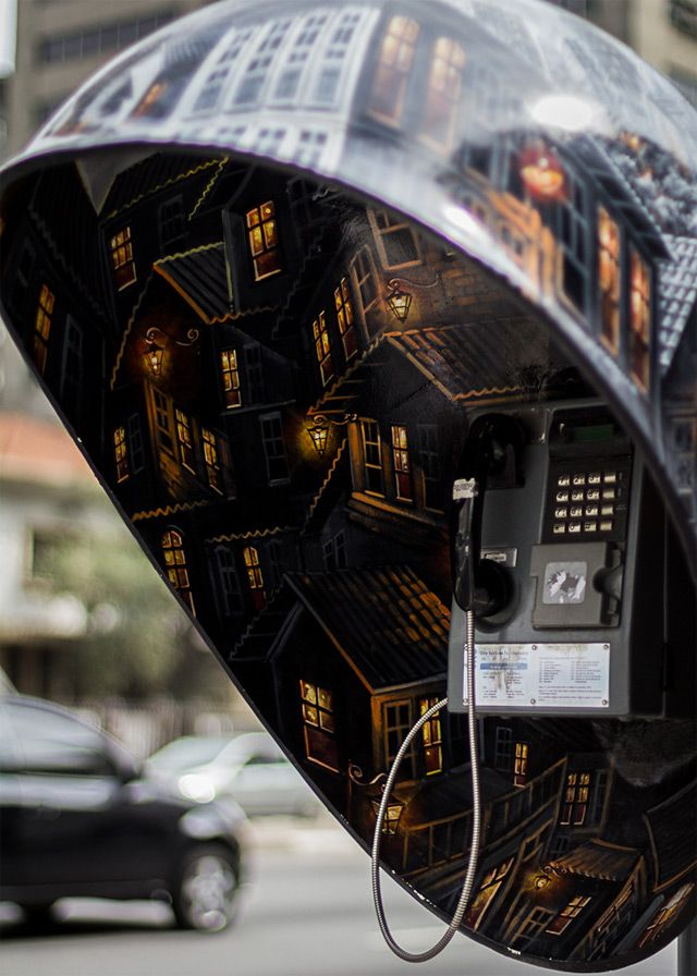 100 Phone Booths Given to 100 Artists on the Streets of São Paulo