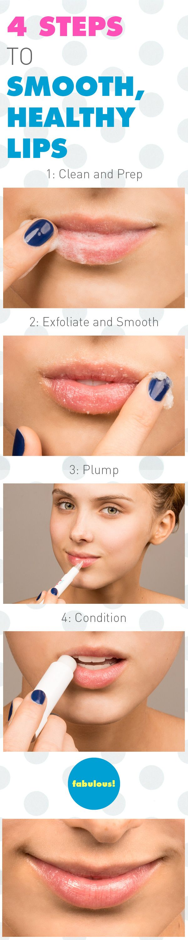 4 Steps to Smooth, Healthy Lips