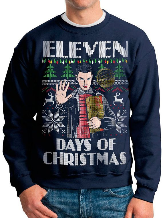"""Go ahead and kick back, relax, and treat yourself to a plate of Eggos as we show you 22 """"totally tubular"""" Stranger Things sweaters."""