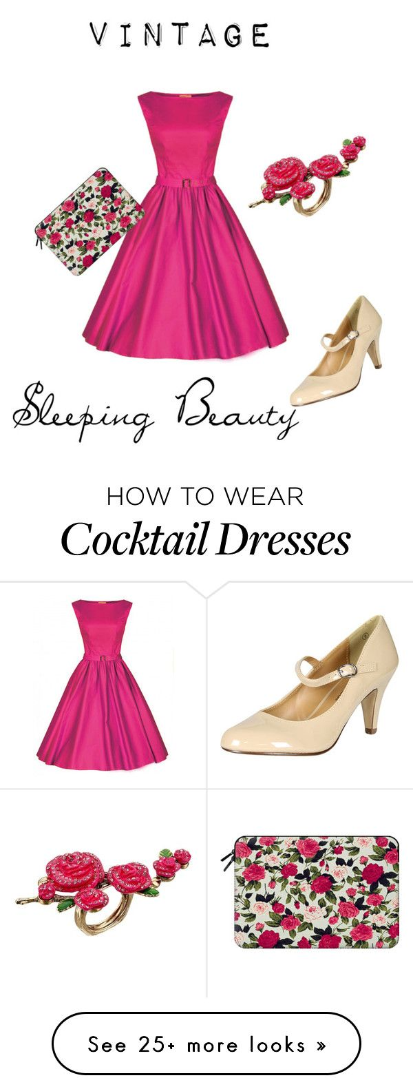 """""""Vintage Sleeping Beauty"""" by rachael-disney on Polyvore featuring Betsey Johnson, Casetify and vintage"""