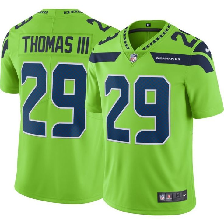 Nike Men's Color Rush 2017 Limited Jersey Seattle Earl Thomas III #29, Size: Small, Team
