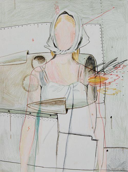 Max Mara S/S 2014 illustrated by Alexandra Levasseur.