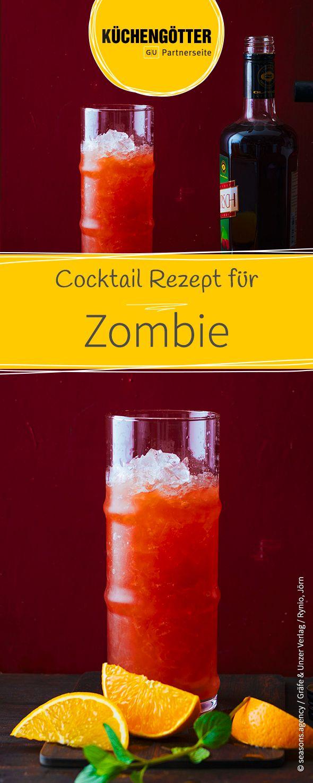 """Vorsicht, dieser Cocktail hat es in sich: Für den """"Zombie"""" wird hochprozentiger brauner Rum mit einem Alkoholgehalt von mindestens 70 Vol.-% verwendet."""