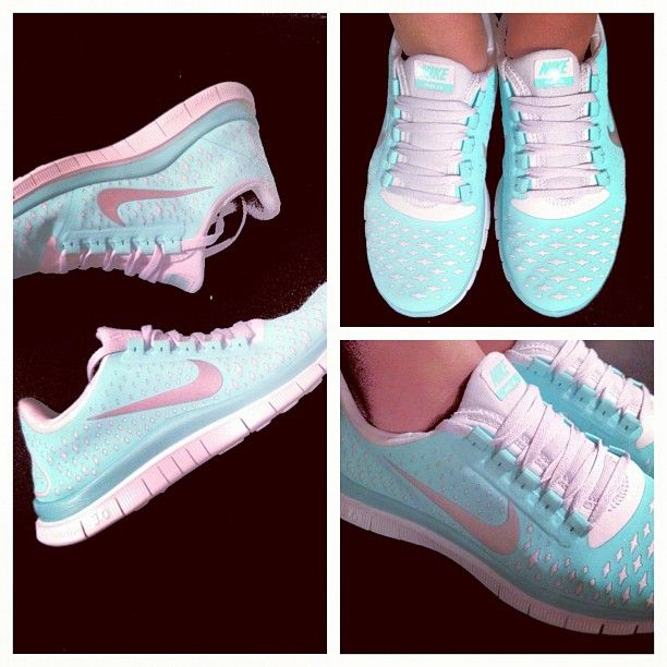 Yayy!! Tiffany blue Nike frees! You are finally mine :) love themmm!! - @julieeparkk- #webstagram