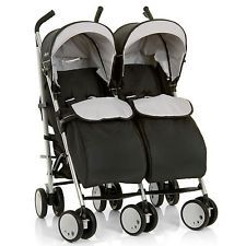 NEW HAUCK BLACK TORRO DUO TWIN PUSHCHAIR DOUBLE BUGGY FROM BIRTH STROLLER
