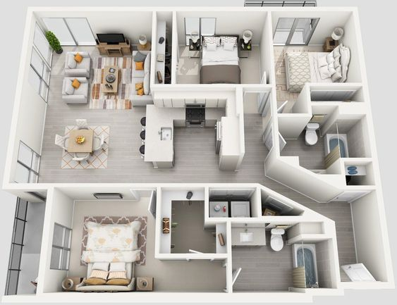 Pin By Khavi Kalib On Home Ideas Apartment Layout Apartment Design Sims House Plans