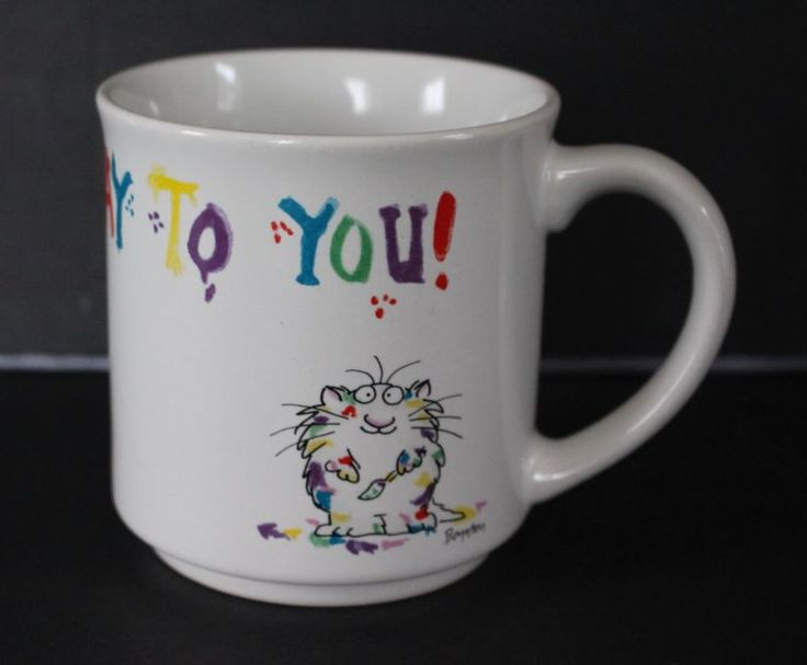 Sandra Boynton Feliz Aniversário Café Caneca Gatos Divertido Presente Pintura boyton