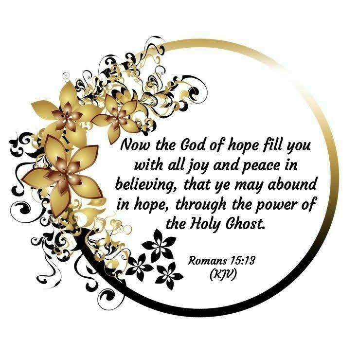 Romans 15:13 (KJV)   Scripture images, Bible words, Kjv