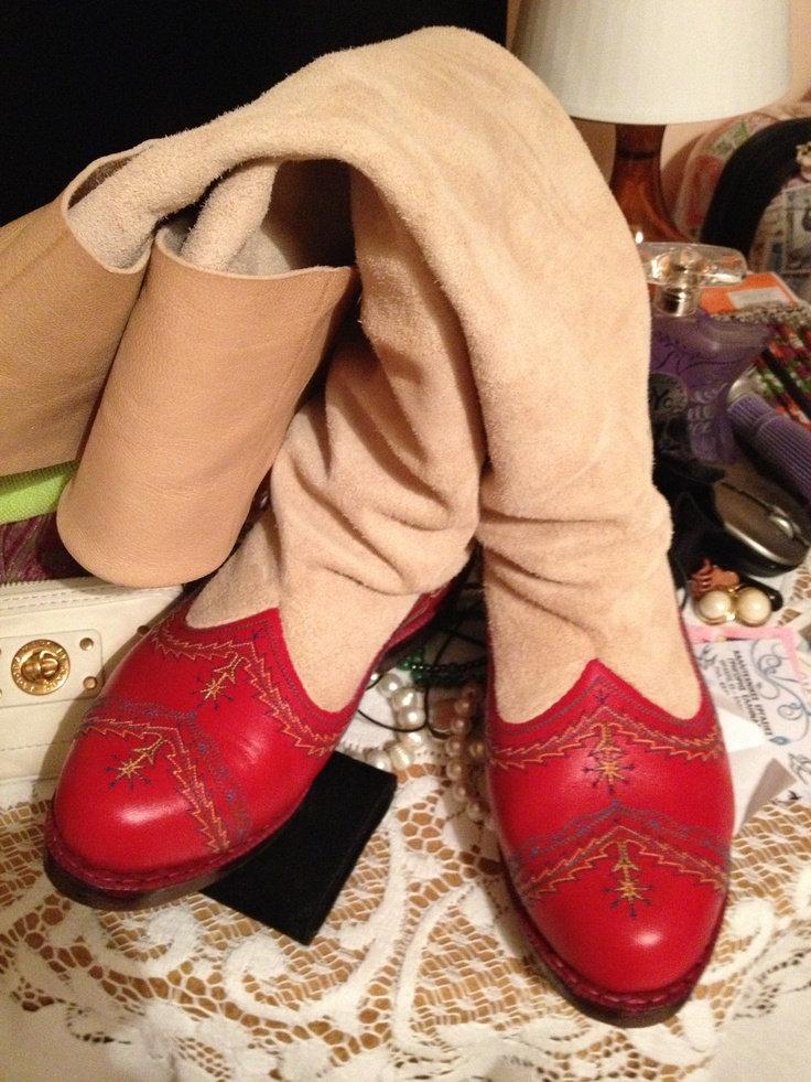 Handmade Stivania boots, made on the island of Karpathos one pair at a time !!