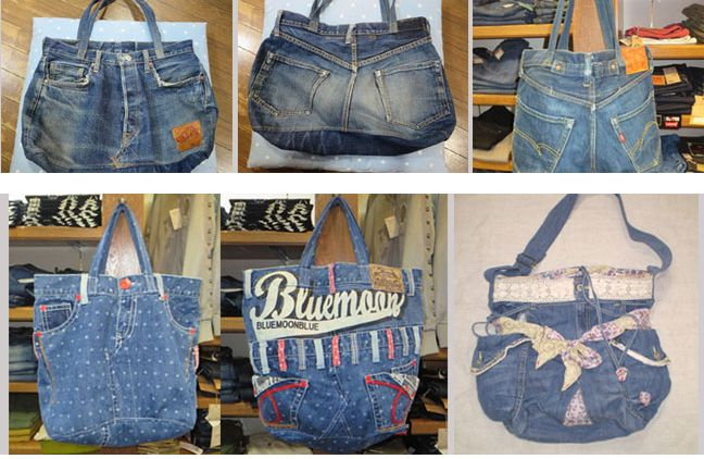 Cooles Upcycling: Taschen aus Jeans