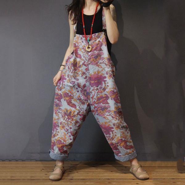 Schwangerschaft Mode Druck lässig Overalls Baumwolle lange Strampler in wie das Foto Einheitsgröße   – Kalhoty